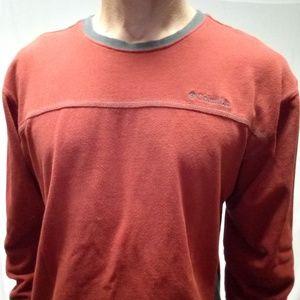Columbia burnt orange sweatshirt gray trim large
